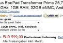 Asus EeePad Transformer Prime bei Amazon vorrätig
