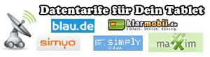 Datentarife Vergleich - Finde den günstigsten Tarif für Dein Tablet
