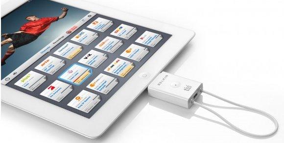 Der Belkin Tizi Go DVB-T Tuner für das iPad 2