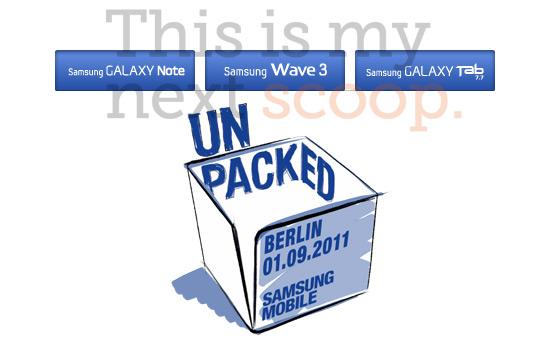 Samsung präsentiert Galaxy Tab 7.7, Wave 3 und Galaxy Notes auf der IFA 2011