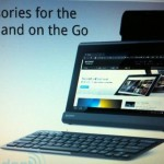 Sony Tablet S mit wireless Keyboard