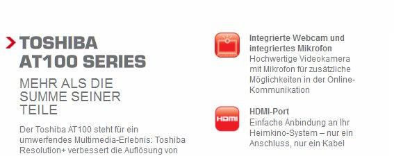 Toshiba AT Serie - Nur ein Serientablet?