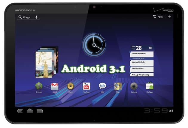 Motorola XOOM 3G Tablet erhält Update auf Version 3.1
