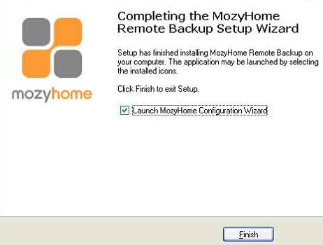 Mozy Installationsroutine
