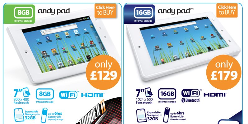 Das AndyPad und das AndyPad Pro