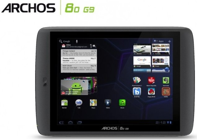 Archos 80 G9 mit Android Honeycomb 3.2