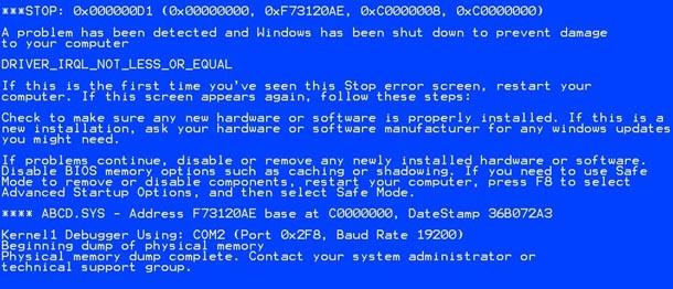 """""""Alter"""" Bluescreen of Death von Windows"""
