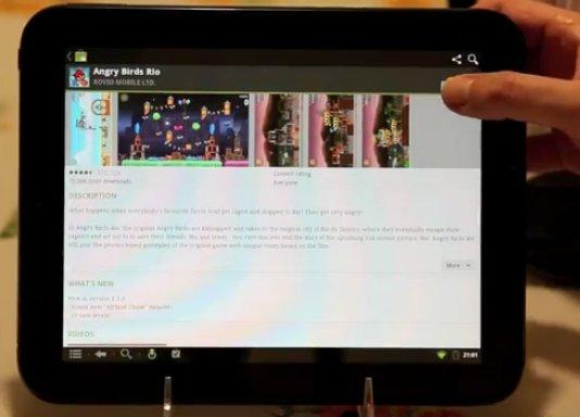 Immerhin: Der Android Market läuft schon mal auf dem HP TouchPad