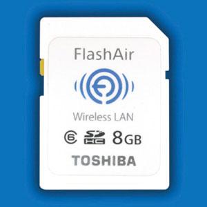 Die Toshiba Flash Air SDHC Speicherkarte mit WiFi Hotspot