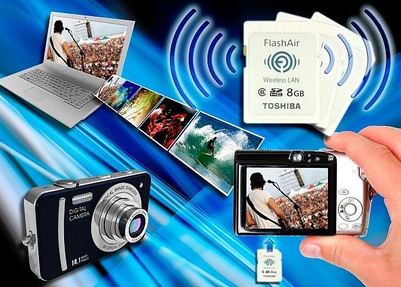Toshiba Flas Air Speicherkarte mit WiFi Funktion