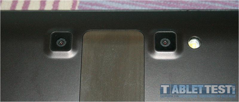 Zwei 5 Megapixel Kameras ermöglich 3D Videoaufnahmen - Optimus Pad V900