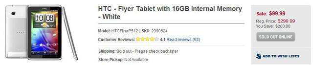 HTC Flyer bei Best-Buy