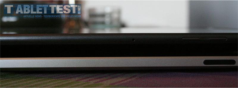 Das LG Optimus Pad liegt auf dem iPad 1