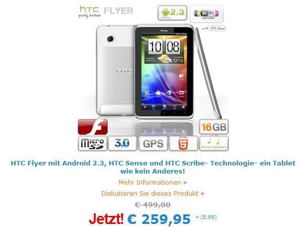 Das HTC Flyer bei IBood im Angebot - Nur heute!