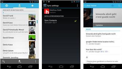 HaxSync Android App - Facebook kontakte synchronisieren