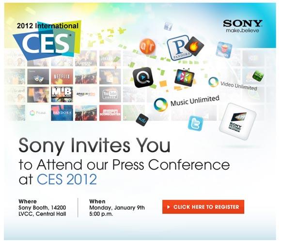 Sony Presse Konferenz CES 2012 in Las Vegas