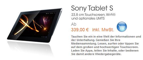Sony Tablet S für Studenten zum Sonderpreis