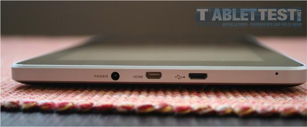 Anschlüsse des MediaPad von Huawei