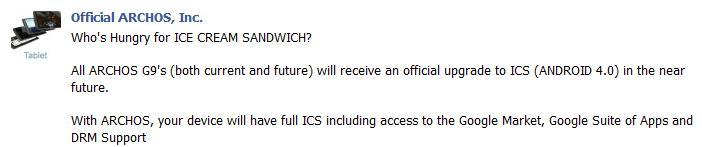 Archos G9 Tablets erhalten im Februar Update auf ICS