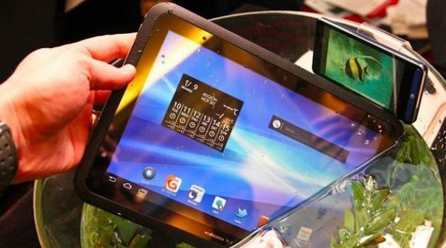 Fujitsu Tablet auf der CES 2012 in Las Vegas