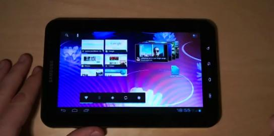 Samsung Galaxy Tab P1000 mit Android 4 Ice Cream Sandwich