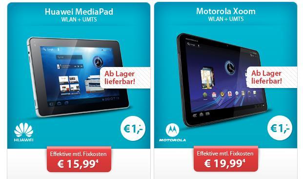 Huawei für 1 Euro bei Sparhandy