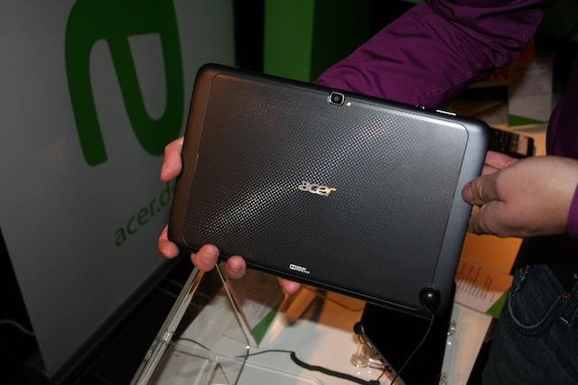 Rückansicht des Acer Iconia Tabs A700 - Noch nicht final