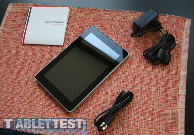 Der Lieferumfang des MediaPad von Huawei
