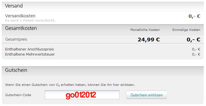 O2 Gutschein - O2 Gutscheincode Januar 2012