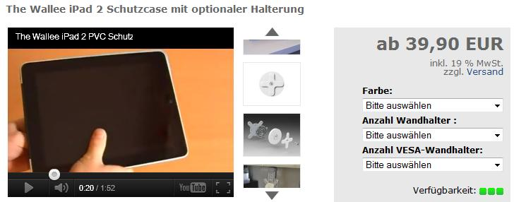 The Wallee iPad Halterung