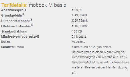 Mobook Tarifdetails