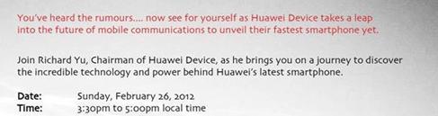 Huawei bittet zum Presse Event nach Barcelona