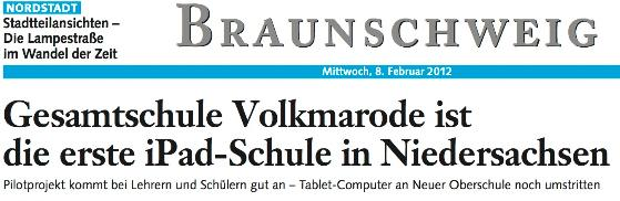 iPad an IGS in Volkmarode