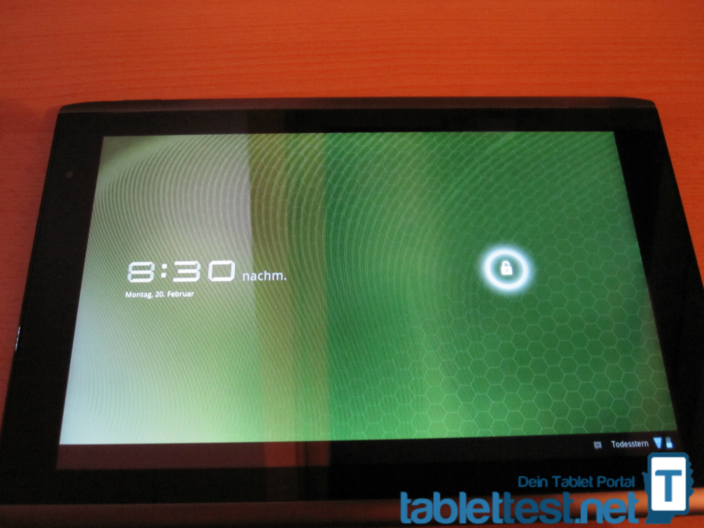 Das Display des Acer Iconia Tab A501