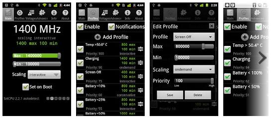 SetCPU Android App