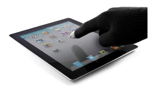 Handschuhe für Tablet-PCs und Smartphones