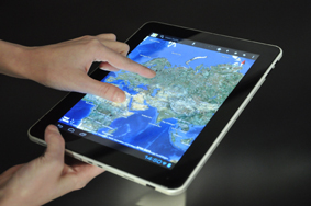 Multitouch beim BULLMAN Tablet A9M