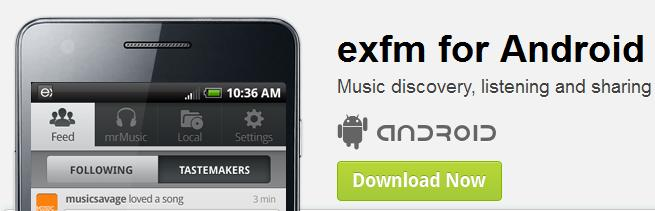 Exfm auch mit Android App