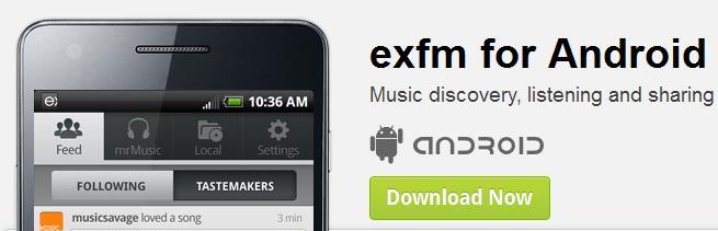 Exfm auch mit Android App