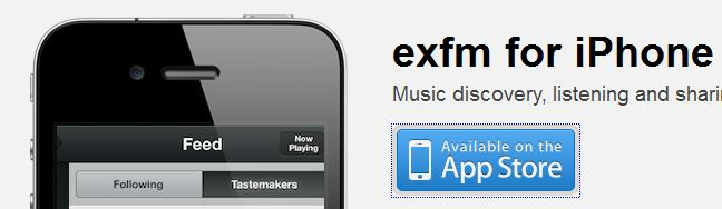 exfm iOS App