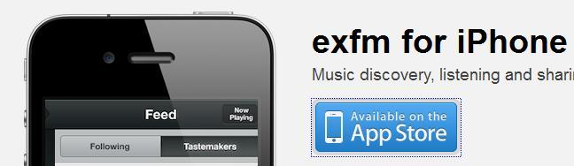 exfm iOS App