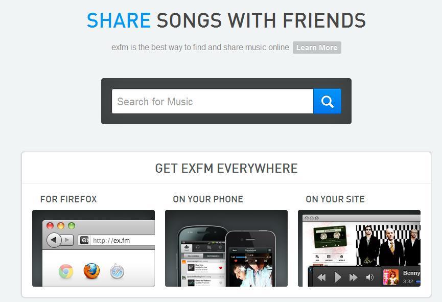 exfm Musik Streaming Dienst mit Android und iOS App