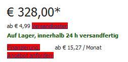Das Mediapad für 328,- Euro bei Cyberport